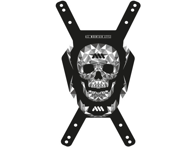 All Mountain Style Number Plate, negro/gris